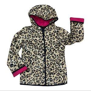 Children's Place Girl's Animal Print Raincoat Size 7/8 Medium